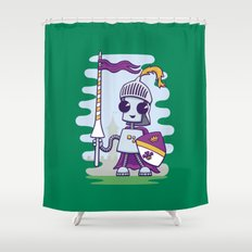 Ned the Knight Shower Curtain