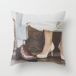 Vintage Swing Couple Shoes Throw Pillow