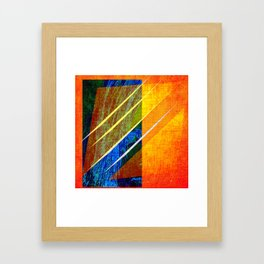 Abstract face Drawing Framed Art Print