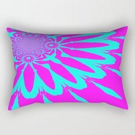 The Modern Flower Fushia & Turquoise Rectangular Pillow