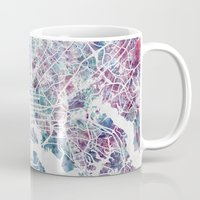 baltimore Mugs featuring Baltimore by MapMapMaps.Watercolors