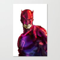 daredevil Canvas Prints featuring DAREDEVIL by peocle