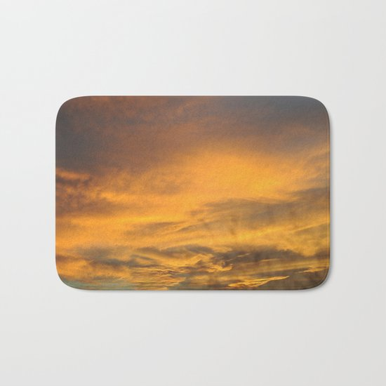 COME AWAY WITH ME - Autumn Sunset #2 #art #society6 Bath Mat