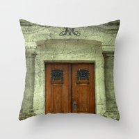 portal Throw Pillows featuring Portal by freedom-of-art