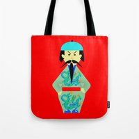 chinese Tote Bags featuring Chinese by lescapricesdefilles