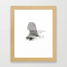 I have always been a storm. Framed Art Print