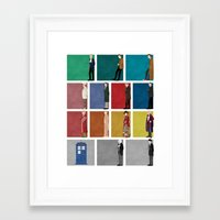 doctor Framed Art Prints featuring Doctor Who? by The Joyful Fox