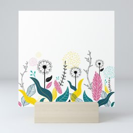 Dandelions in Garden Mini Art Print