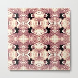Shiny Old Rose Flower Design, Pattern Metal Print