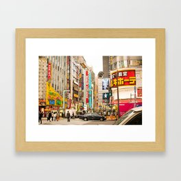 Kabukicho, Shinjuku. Framed Art Print