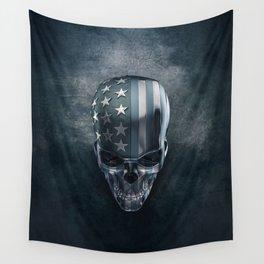 American Flag Skull Wall Tapestry