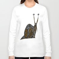 greg guillemin Long Sleeve T-shirts featuring Snail Abstract by Greg Phillips by SquirrelSix