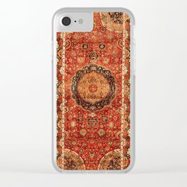 Seley 16th Century Antique Persian Carpet Print Clear iPhone Case