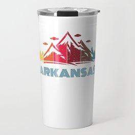 Retro Arkansas Design for Men Women and Kids Travel Mug