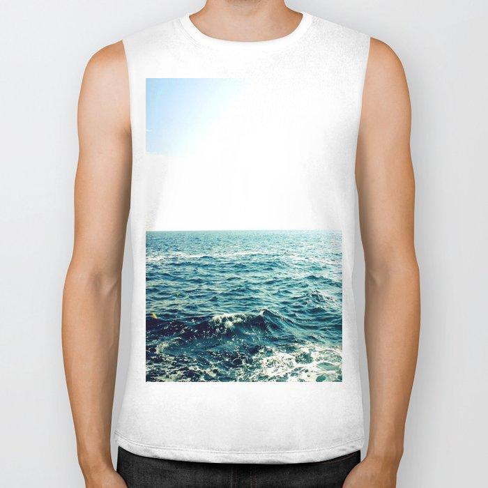Sea waves I Biker Tank