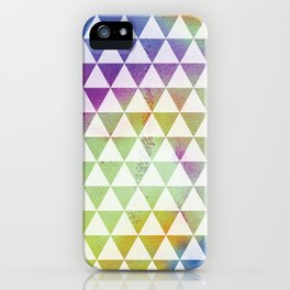Geomteric watercolour iPhone Case