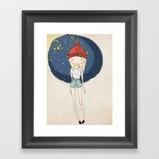 Ange - Fashion illustration Framed Art Print