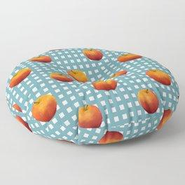 Apple on table Floor Pillow
