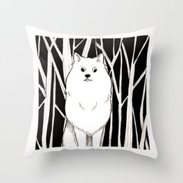 Wolf King Throw Pillow