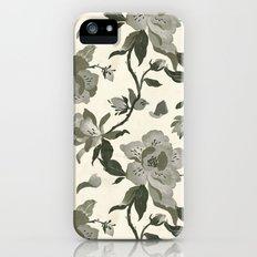 Black Magnolia Pattern iPhone (5, 5s) Slim Case