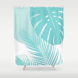 Minimal Monstera Palm Finesse #10 #tropical #decor #art #society6 Shower Curtain
