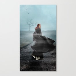 Out on the wiley, windy moors Canvas Print