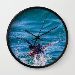 Running puffin Wall Clock