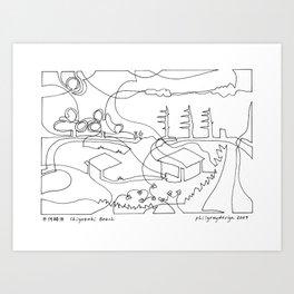 千代崎浜 Chiyozaki Beach Art Print