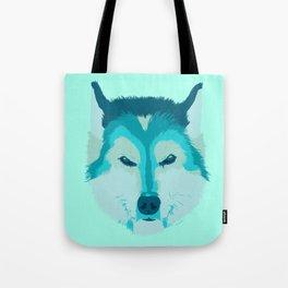 husky - teal Tote Bag
