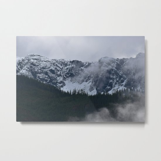 Gray morning in Squamish Metal Print