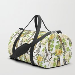 Watercolor horseshoes with roses Duffle Bag