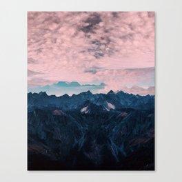 Pastel mountain mood Canvas Print