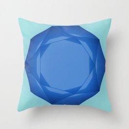 Blue Gem Throw Pillow