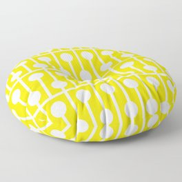 Geometric Pattern 178 (yellow pegs) Floor Pillow
