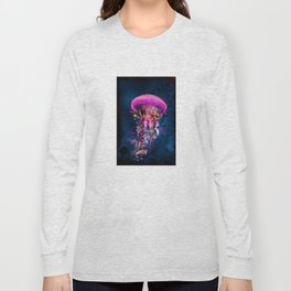 Pink Electric Jellyfish Long Sleeve T-shirt