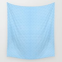 scandinavian Wall Tapestries featuring Scandinavian blue by There is no spoon