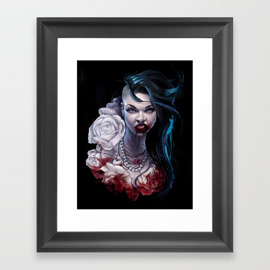"Marceline  ""shades of red"" Framed Art Print"