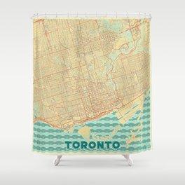 Toronto Map Retro Shower Curtain