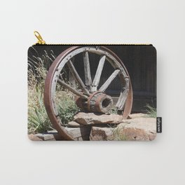 road trip, wagon wheel, old west, history Carry-All Pouch