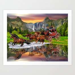 Wells Fargo Stagecoach Art Print