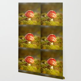 Red Amanita Mushroom - #decor #society6 #buyart Wallpaper