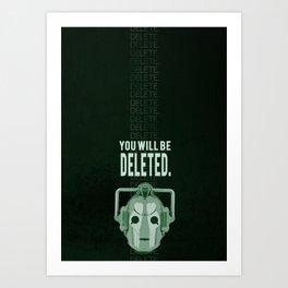 Doctor Who: Cybermen Print Art Print