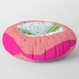 Sushi Burger Japanese Food Hamburger Fan Art Gift design Floor Pillow