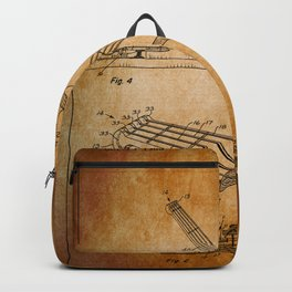 Guitar Patent - antique brown Backpack