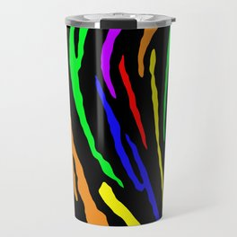 Rainbow Tiger Stripes Travel Mug