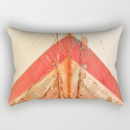 Orange Boat Hull Wooden Boats Fishing Fisherman Seafood Painted Wood Vintage Weathered Nautical Beac Rectangular Pillow