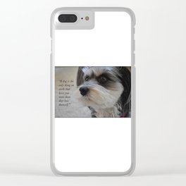 A dogs Love is Unconditional Clear iPhone Case