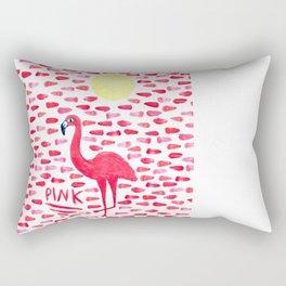Pink Pretty Flamingo Pattern Rectangular Pillow