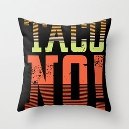 Funny Taco eating shirt Throw Pillow