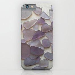 Genuine Purple Sea Glass Collection iPhone Case